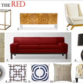 "Interiors :: The ""Red"" Couch"