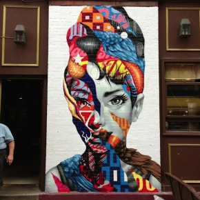 "L.O.V.E :: Tristan Eaton ""Audrey Hepburn""Painting"