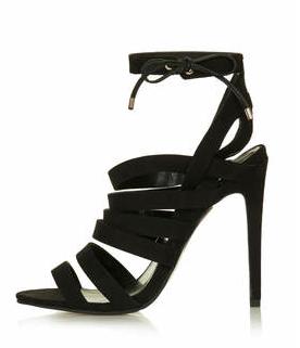 Fashion :: Perfect Black StrappyShoe