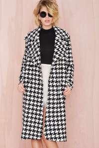 Nasty Girl - Check Coat